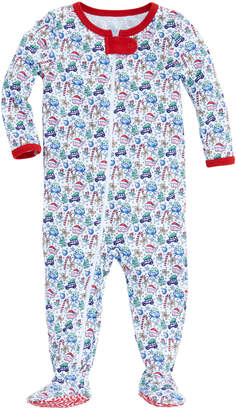 Vineyard Vines Baby Multi Icon Footed One-Piece