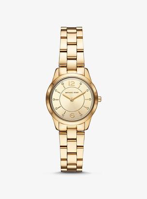 Michael Kors Petite Runway Gold-Tone Watch