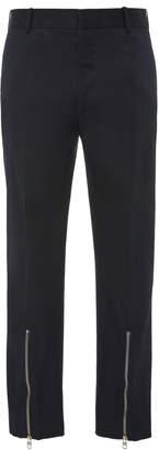 Alexander McQueen Zip-Detailed Cotton Suit Pants