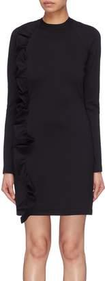 Victoria Beckham VICTORIA, Asymmetric ruffle trim dress