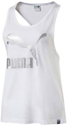 Puma Women's Classics Logo Tank Top, Black, L