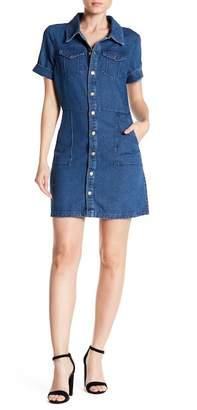 Alexia Admor Mini Denim Shirt Dress