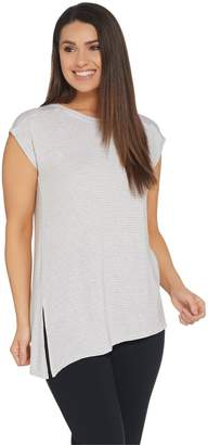 Cuddl Duds Softwear with Stretch Asymmetrical Hem Tee