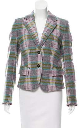 Rene Lezard Tweed Notch-Lapel Blazer