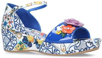 Dolce & Gabbana Majolica Wedge Sandals