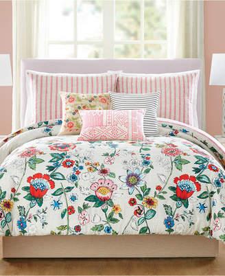 Vera Bradley Coral Floral 3-Pc. King Comforter Set Bedding