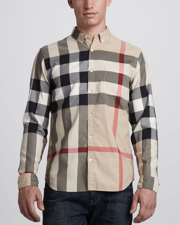 Burberry Brit Check Button-Down Shirt, Classic Sold Out ...