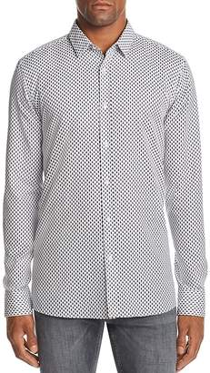 HUGO Elisha Geometric-Print Slim Fit Shirt