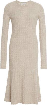Mansur Gavriel Cable-Knit Wool And Silk-Blend Midi Dress