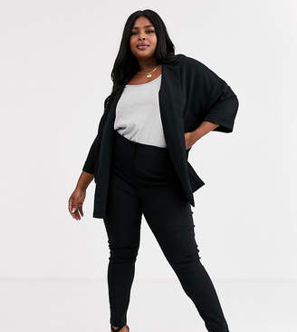 Asos DESIGN Curve high waist trousers in skinny fit