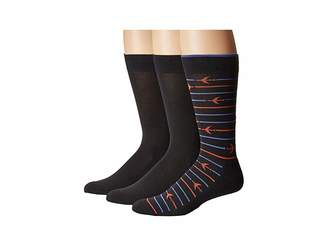 Hue Striped Jetsetter Socks 3-Pack Men's Crew Cut Socks Shoes