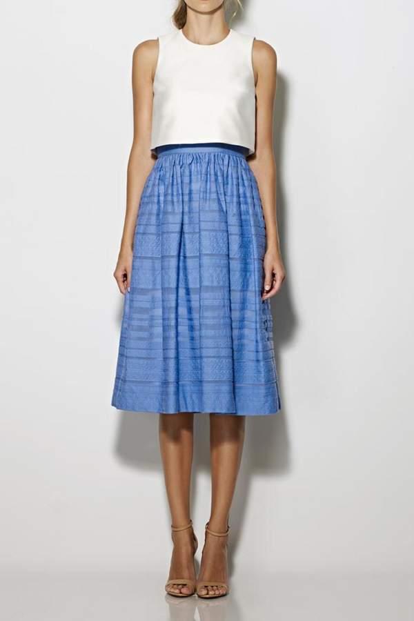 Cynthia Rowley Popover Tea-Length Dress