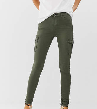 Esprit skinny denim jean with side pockets in khaki