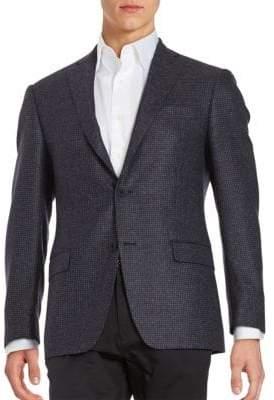 Michael Kors Textured 2-Button Wool Jacket