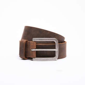 DSTLD Mens Standard Leather Belt in Vintage Brown