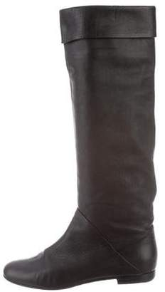 Giuseppe Zanotti Leather Riding Boots