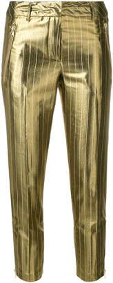 Twin-Set metallic stripe cropped trousers