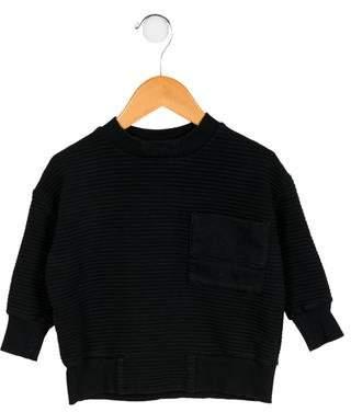 Motoreta Boys' Striped Crew Neck Sweatshirt
