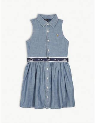 Ralph Lauren Chambray sleeveless dress 4-14 years