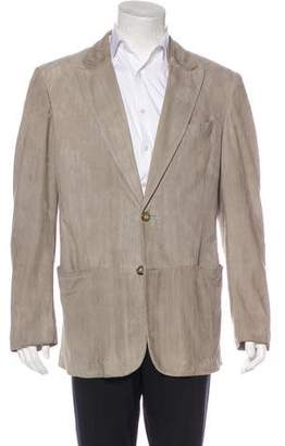 Giorgio Armani Striped Suede Sport Coat