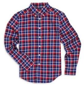 Ralph Lauren Toddler's, Little Boy's& Boy's Checkered Cotton Button-Down Shirt
