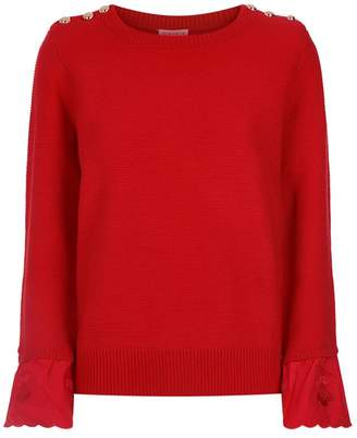 Claudie Pierlot Cherry Frill Trim Sweater