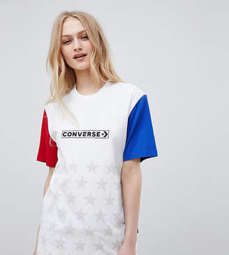 Converse Exclusive One Star Boyfriend Fit T-Shirt In Color Block