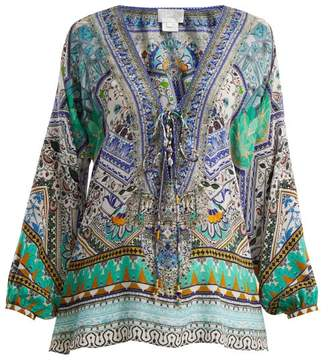 Camilla Everlasting Udaipur Silk Blouse - Womens - Green Multi