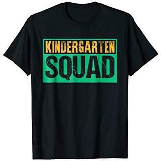 Kindergarten Squad Funny Back to School Teacher T-Shirt