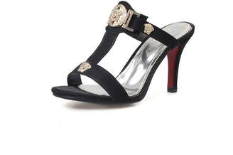 b5d5a3aae403f PeepToe AdeeSu Womens Pumps-Shoes Peep-Toe No-Closure Chain-Strap High