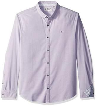 Original Penguin Men's Long Sleeve Basic Oxford Stretch Shirt