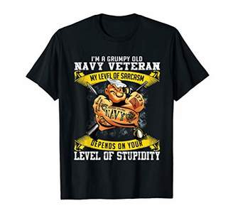 Old Navy I'm A Grumpy Veteran My Level Of Sarcasm Depends On