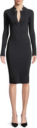 Chiara Boni Doma Long-Sleeve Tuxedo Dress