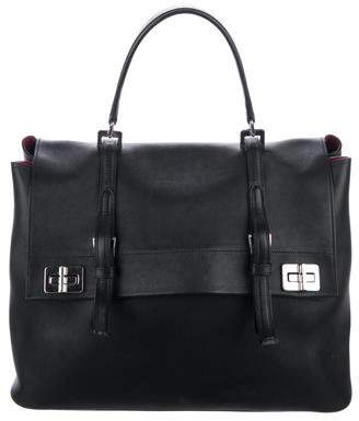 Prada Vitello Lux Calf Flap Tote