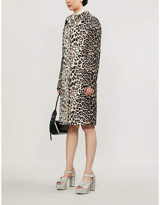 Prada Leopard-print wool coat