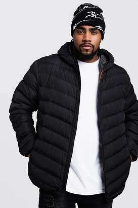 boohoo Big And Tall Quilted Zip Through Jacket