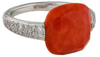 Pomellato Coral & Diamond Capri Ring