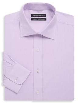 Saks Fifth Avenue BLACK Classic-Fit Textured Cotton Dress Shirt