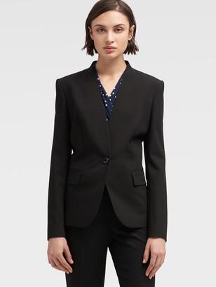 DKNY Collarless Single-button Blazer
