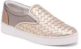 Bottega Veneta Metallic Weave Skate Sneakers