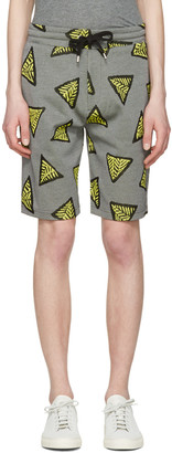 Kenzo Yellow Bermudas Tech Lounge Shorts $270 thestylecure.com