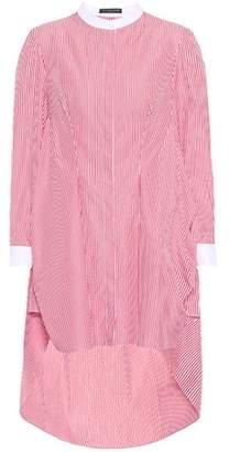 Alexander McQueen Striped cotton top