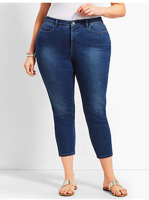 Talbots Womans Exclusive Denim Crop Jegging - Curvy Fit/Blue Diamond Wash