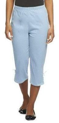 """Denim & Co. How Timeless"""" Side Pocket Capri Pants w/ Bottom Slit"""