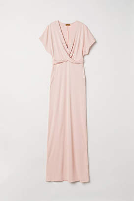 H&M Long Draped Dress - Orange