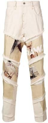 G Star Research Deer print jeans