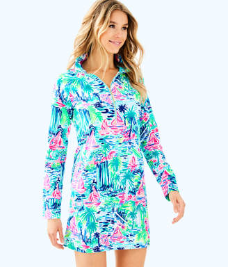 Lilly Pulitzer Womens UPF 50+ Skipper Printed Popover Dress