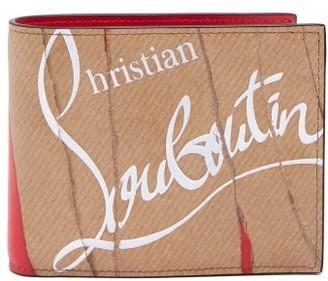 Christian Louboutin Kraft Coolcoin Leather Wallet - Mens - Beige