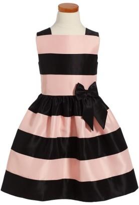 Toddler Girl's Frais Stripe Fit & Flare Dress $50 thestylecure.com