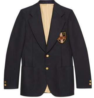 Gucci Wool jacket with patches